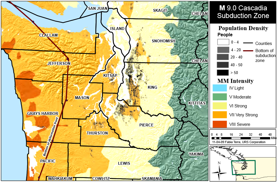 Maps - All Doents Cascadia Subduction Zone Map on
